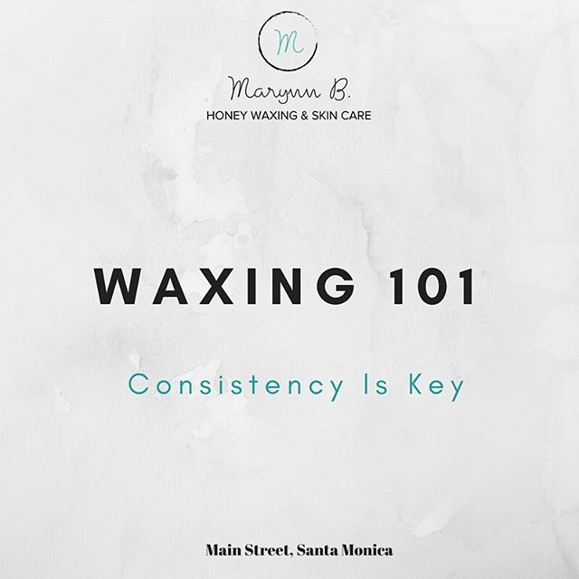 Getting waxed consistently every 4-6 weeks is the secret to less pain and better results. Stick with it throughout all seasons, not just the summer months. #tuesdaytip #waxing101 #honeywaxing #naturalbeauty #marynnb #brazilianwax #hairfree #mainstreet #santamonica