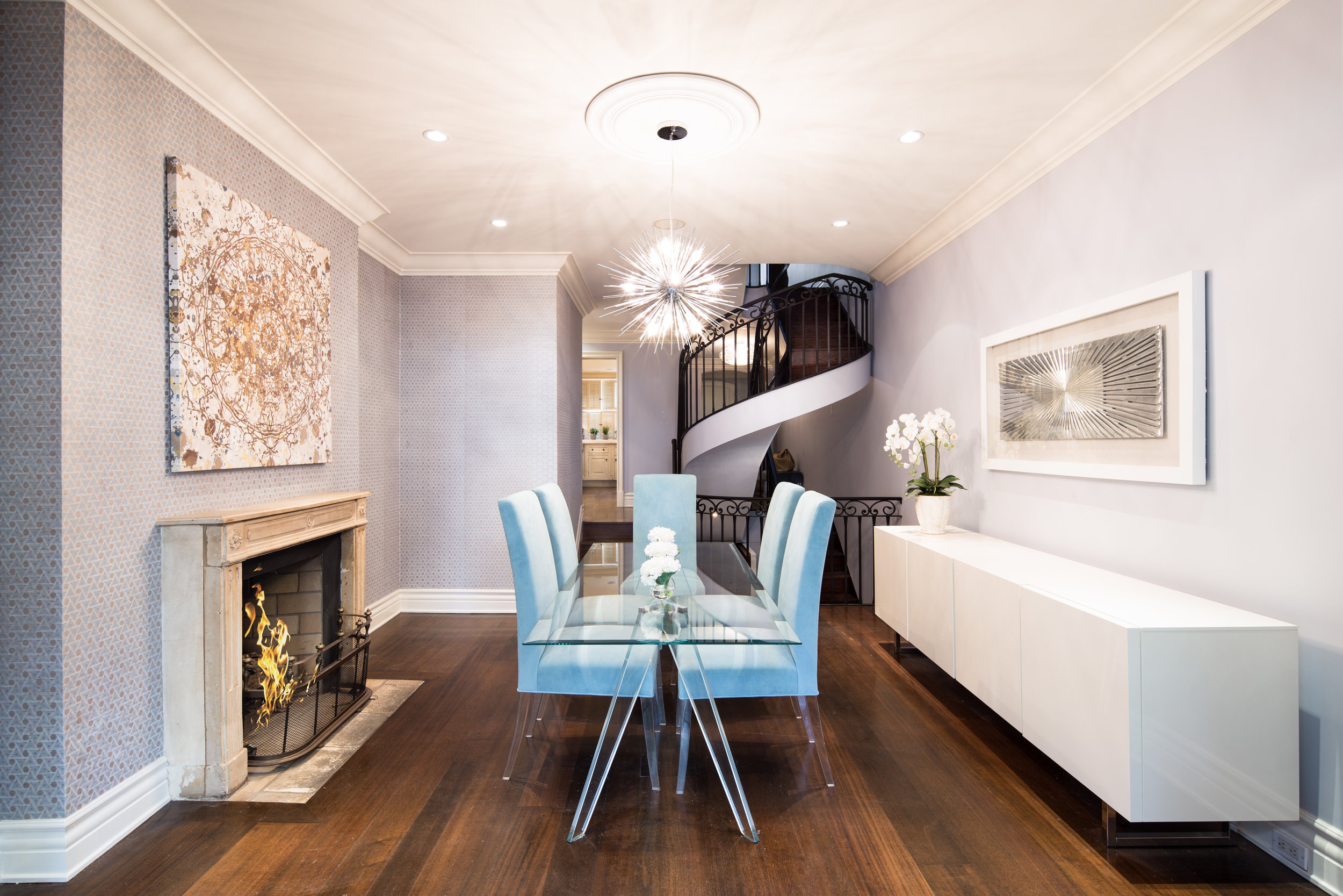 Interiors Photography - Fireplace Room