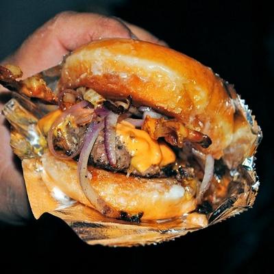 Krispy Kreme Hamburger by Bob B Brown