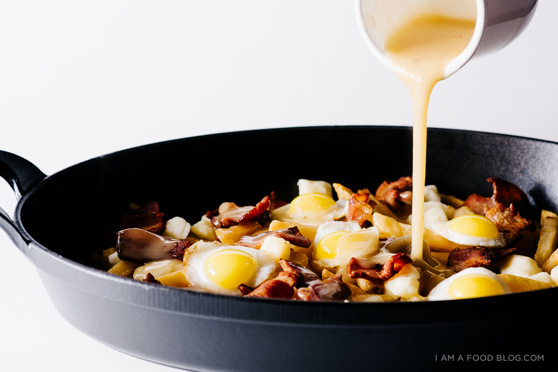 Breakfast Poutine with Bacon Gravy