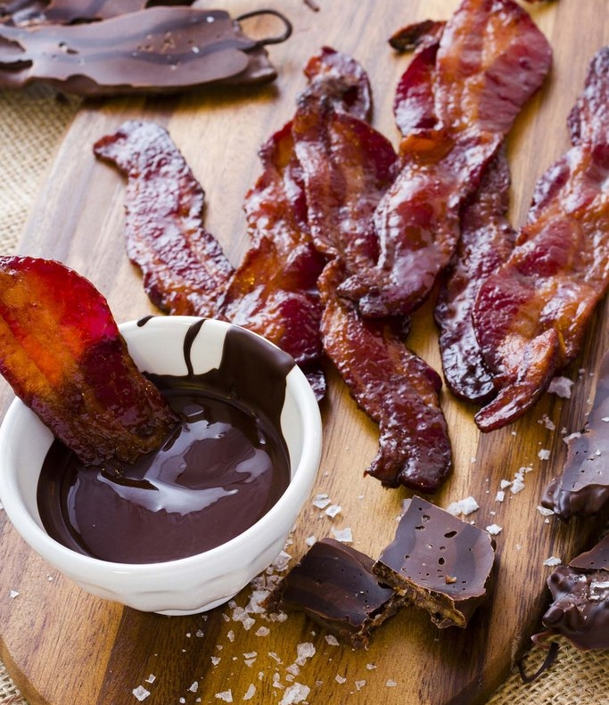 Chocolate Covered Bacon Strips