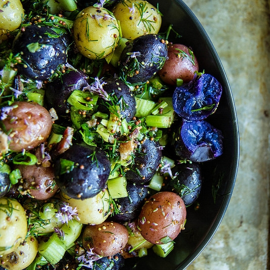 Red White and Blue Potato Salad