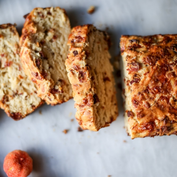 Beer Bread With Bacon and Cheddar