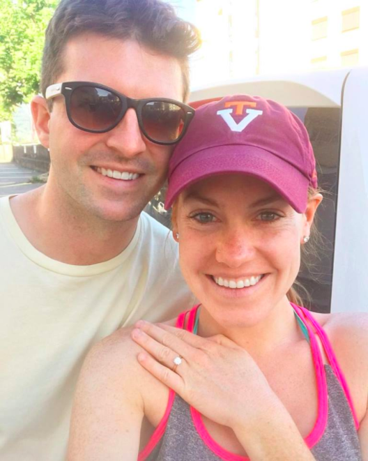 Newly engaged Betsy and Russell!
