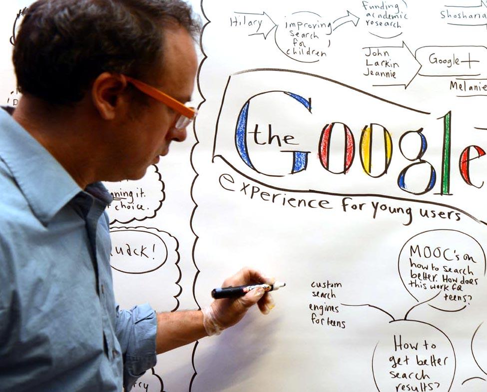 Jonny CApturing a talk about how children experience google