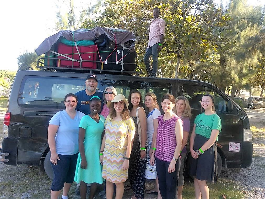 The RHCC Team heading from Port-au-Prince to Beaudois with their packed minibus.