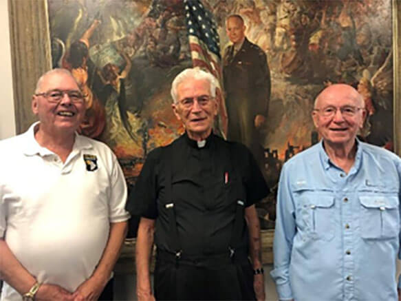 Mayor Theodore Streeter, Chaplain (Colonel) Robert F. Berger USA (Ret.) & Former State Representative Kenneth Cole