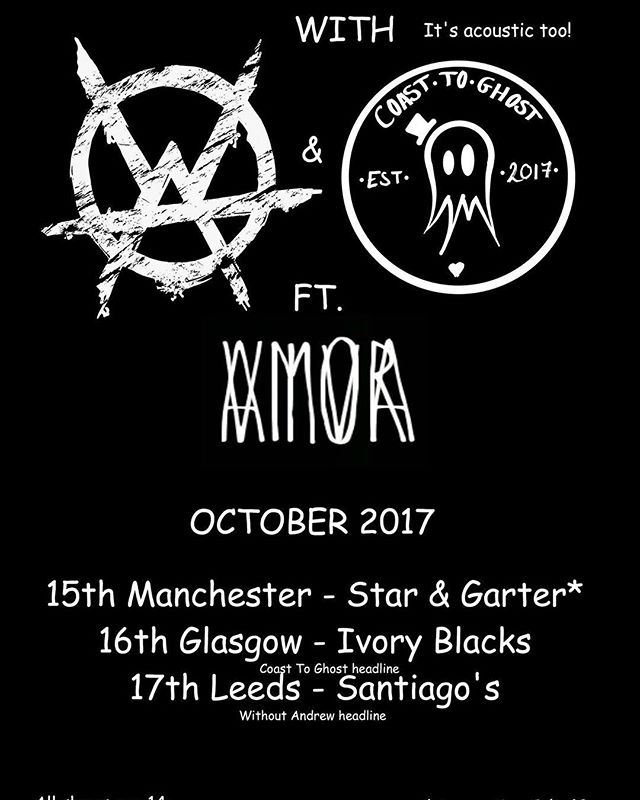 Our dearest @joshyashes will be on the road this autumn with the boys from Without Andrew and Viva Amor! 👻 Too Poor To Tour Acoustic run! 👻 Be there!  #coasttoghost #ashestoangels #ashesfamily #acoustic #vivaamor #withoutandrew