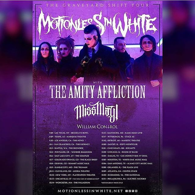 Tomorrow, dearest @crillyashes begins his second trip across the U.S.A. as keyboard warrior for @williamcontrol! Who is going to see him with @miwband, @theamityaffliction and @missmayiband?! 🌹 #williamcontrol #neuromanticmovement #neuromanticboys #b🌹ys #crillyashes #adamcrilly #keyboardist #gothgoth #goth #darkwave #synth #electronicmusic #dancemusic #ashestoangels #ashesfamily #newgrave #bands #bandsarelife #nickrossi #kennethfletcher #ianmacwilliams #newyearsday #motionlessinwhite #miw #chrismotionless #staymetal #theamityaffliction #missmayI