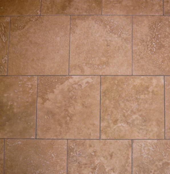 travertine tile, square,  brick coursed