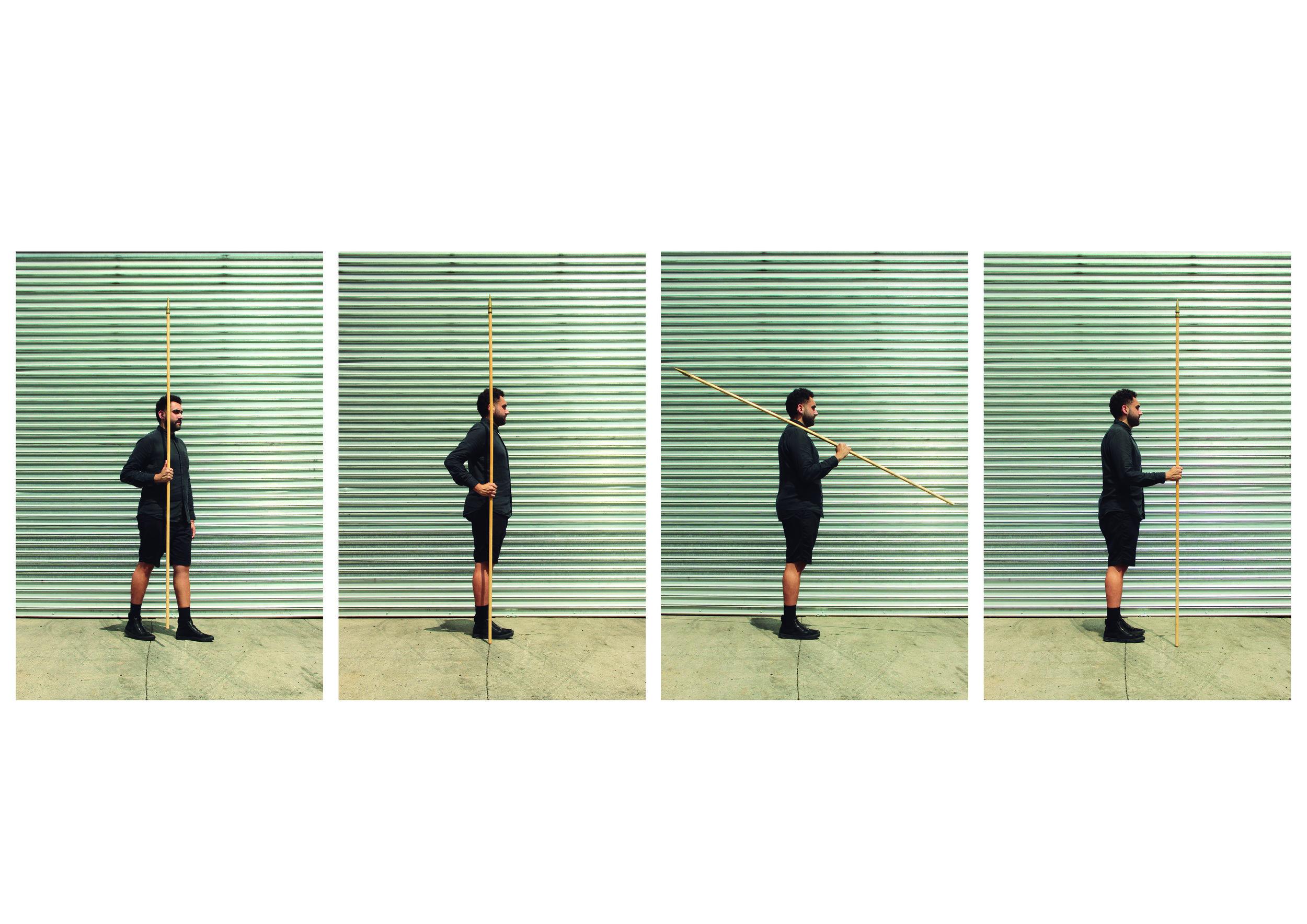 Porta Bandeira. Ensaio para resistência. 2018  1 - Conduzida em desfile 2 - Posição de descansar 3 - Ombros armas 4 - Em continência  Trabalho desenvolvido durante a residência  AnnexB  - Nova Iorque. Foto Camila Crivelenti