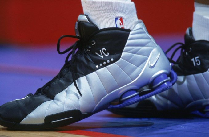 """Paying homage to """"Air Canada's"""" Nike Shox BB4 debuted in 2000."""