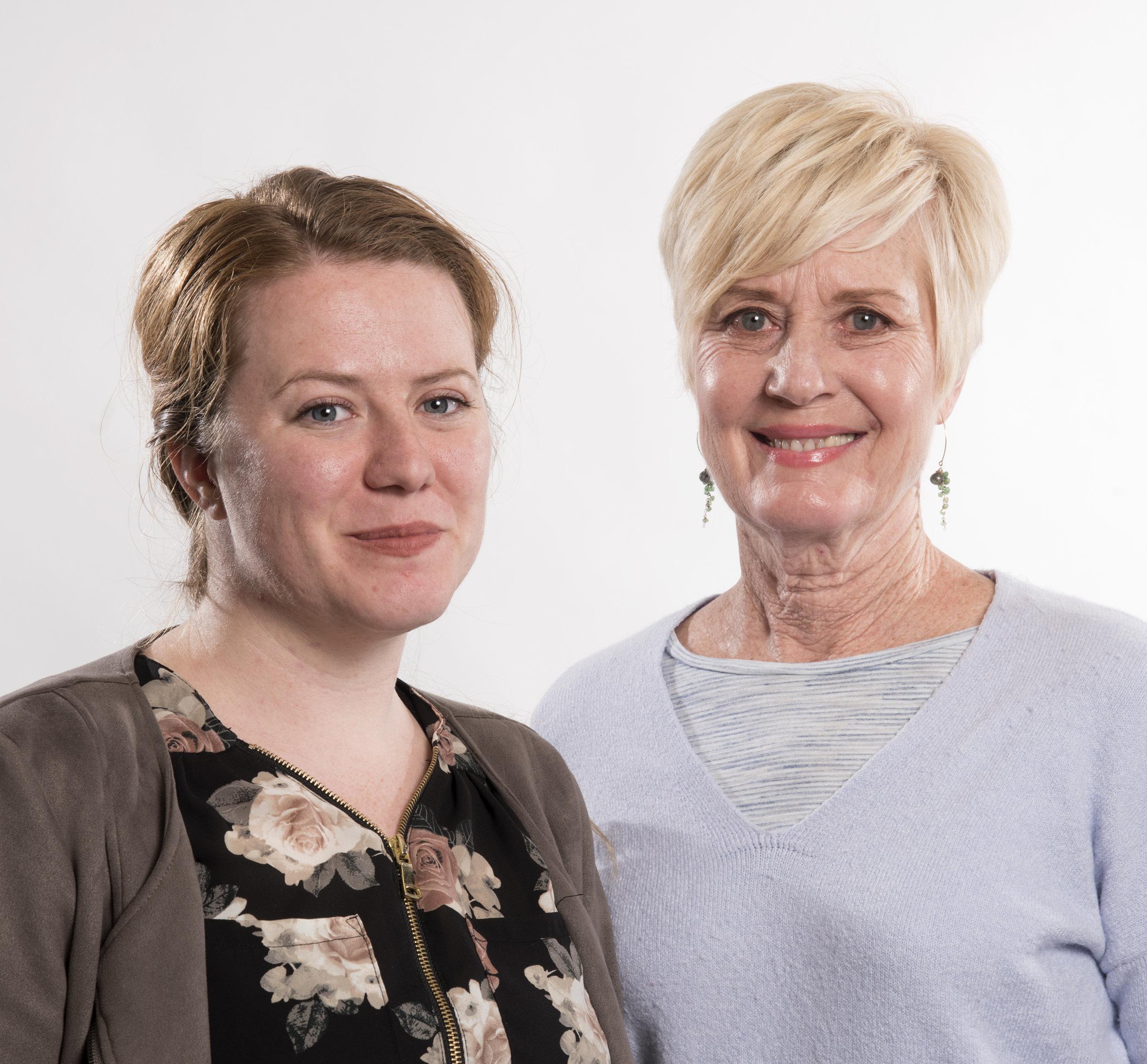 Ashley Bennett, left, and MaryLynn Hinde