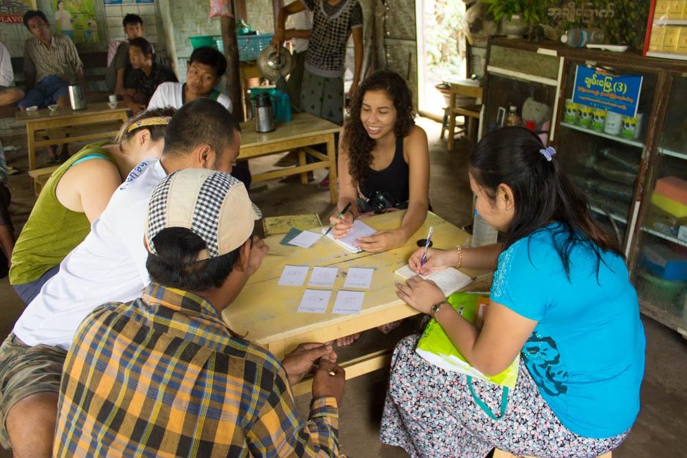 Conducting field research in Shwebo, in Myanmar's Dry Zone.