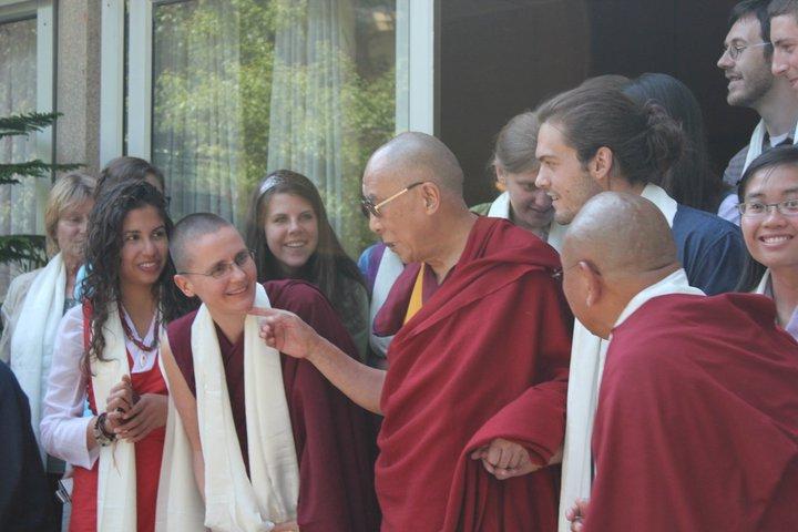 At the Dalai Lama's residence in Dharamsala, India