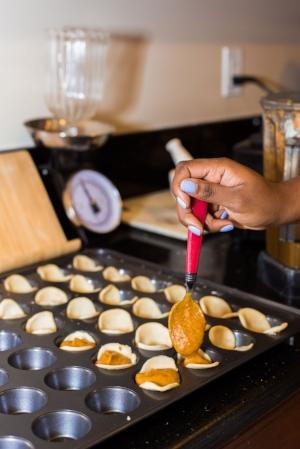 They are so fun to make as mini bites in a mini cupcake pan!