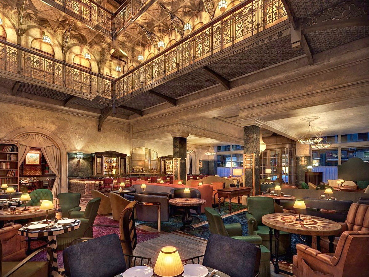 Brunch - Temple Court (5 Beekman Street) is open for brunch Saturdays and Sundays in the beautifully designed main dining room at the Beekman Hotel.