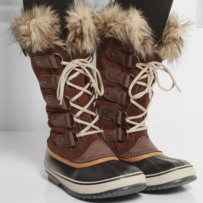 Boots are a must, and we aren't talking about your high heeled ones either. In fact, you can keep your stilettos and heels at home and instead opt for warm, furry, insulated boots that pair well with all of your outfits. -