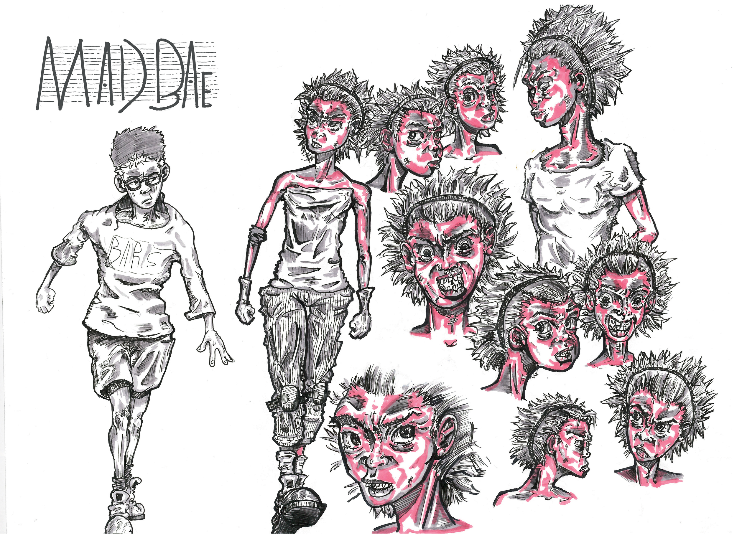 "Character study of my original character ""MAD BAE"". Featuring Griffin."