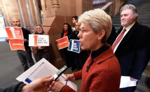 Rev. Paula Gravelle, NYS Council of Churches, photo by  Skip Dickstein/Albany Times Union