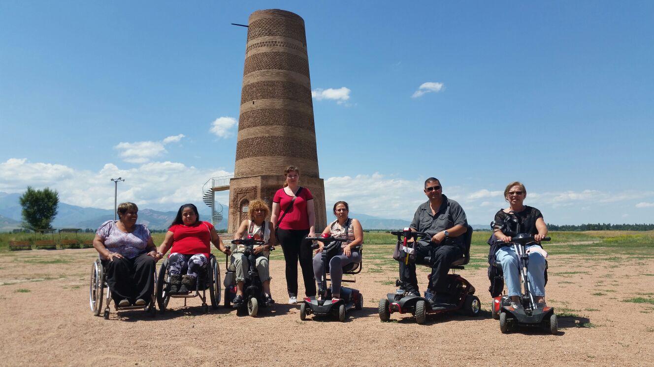 The tour members visiting Burana Tower