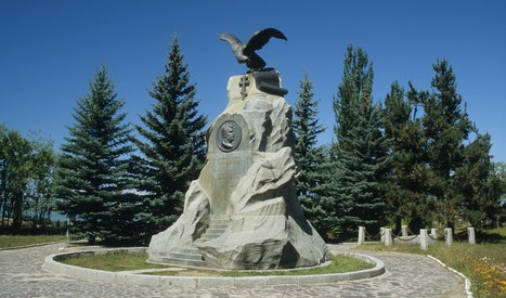 Przhevalsky Monument was built in 1893 and was opened on June 26, 1894. It is composed of large blocks of local Tien-Shan granite.