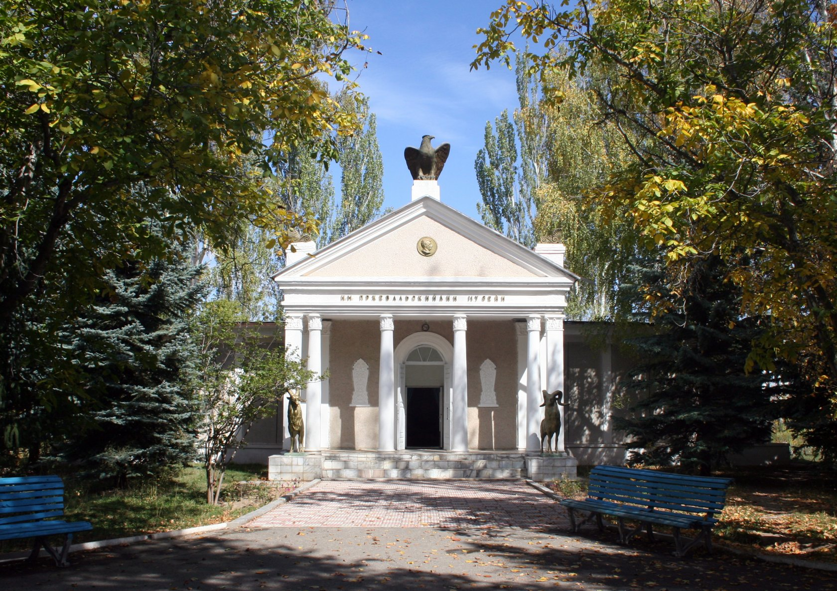 Memorial complex-museum with the tomb of the Russian explorer of Central Asia N. M. Przhevalsky.
