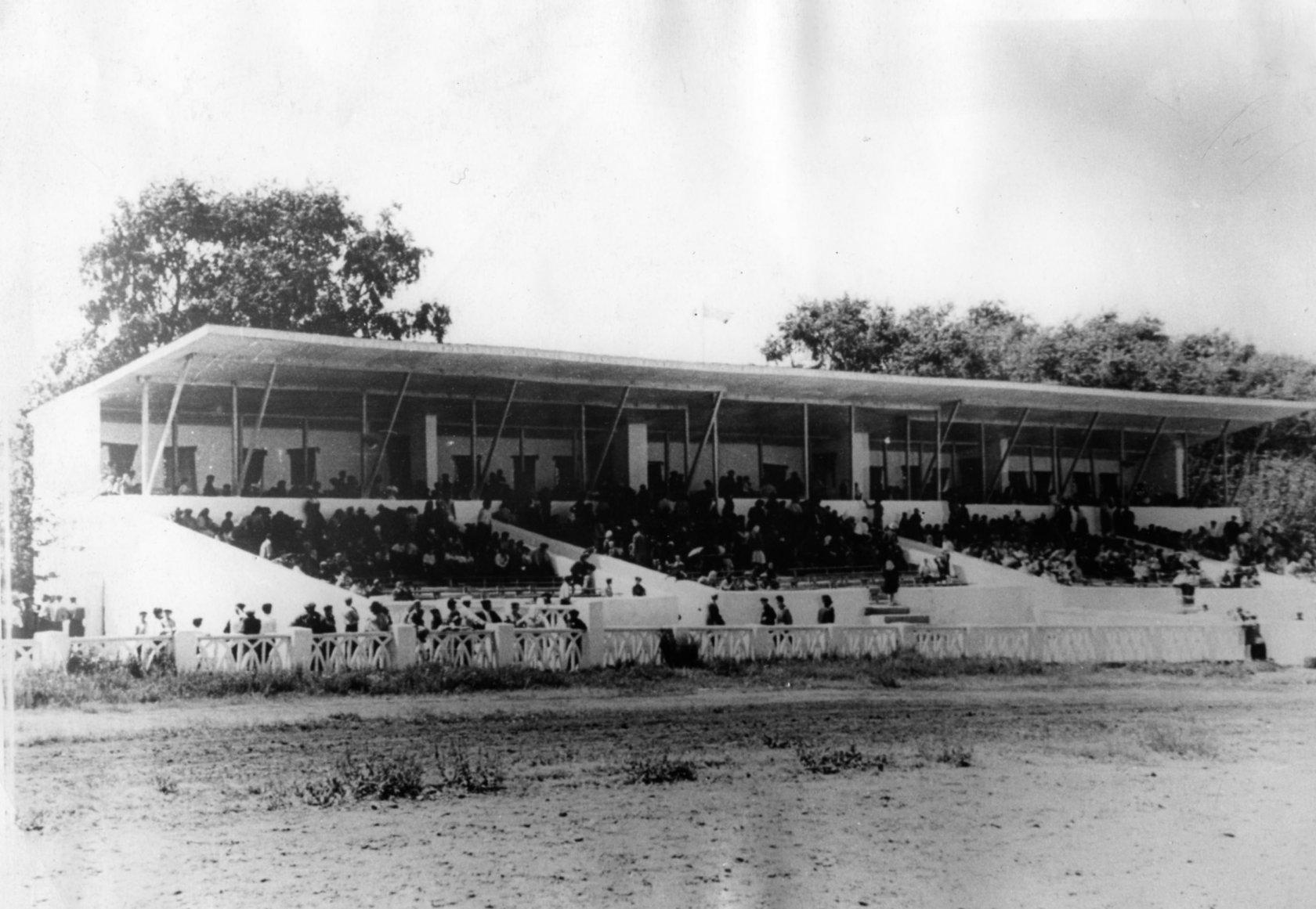 Rostrum of the city hippodrome, 1968.