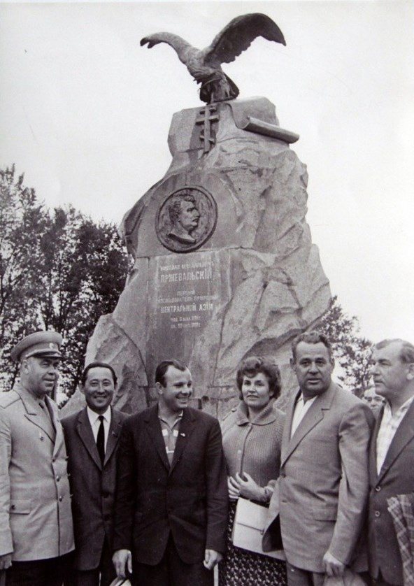 - In Soviet years, when most of the monuments of tsarist times were destroyed, no one dared to touch the monument to Przhevalsky. It became one of the main sights of the eastern Kyrgyz Republic and a mandatory visit point for important guests. The first cosmonaut in the world Yuri Alekseevich Gagarin –has also visited it.