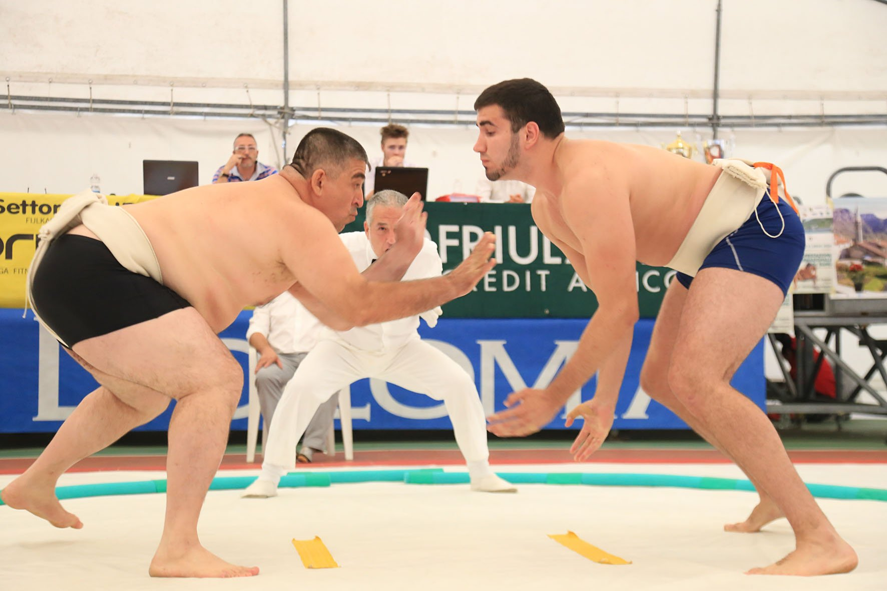 - In the famous Japanese wrestling the winner is the one, who is able to push one's opponent out of the arena or make him touch the ground with any part of the body other than feet.
