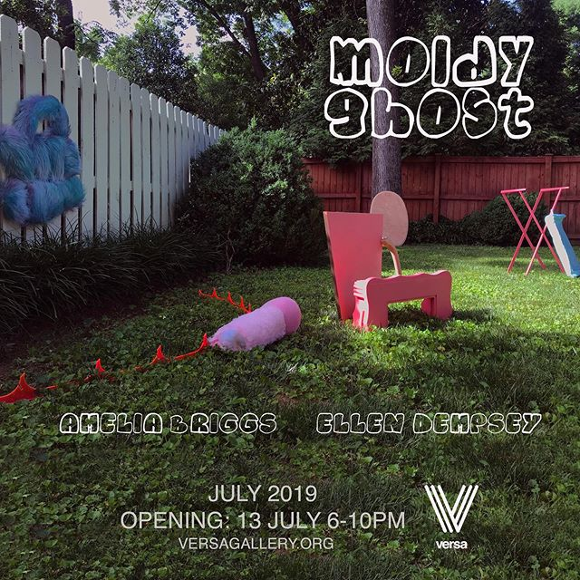 """Moldy Ghost"" opening reception July 13.  Thank you @versatn!"