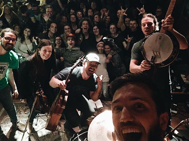 Harrisonburg, we had the best St. Paddy's Day yet with you all - you brought the house down! Thanks to @clementinecafe for having us out and you all for being awesome fans! We love you. Up next: We're at @wdstkbrewhouse on Thursday March 29! #strongwaterva #folk #americana #stpatricksday #harrisonburgva #clementine