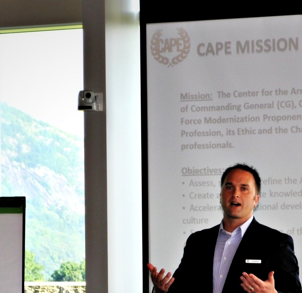 Teaching a seminar for CAPE at West Point