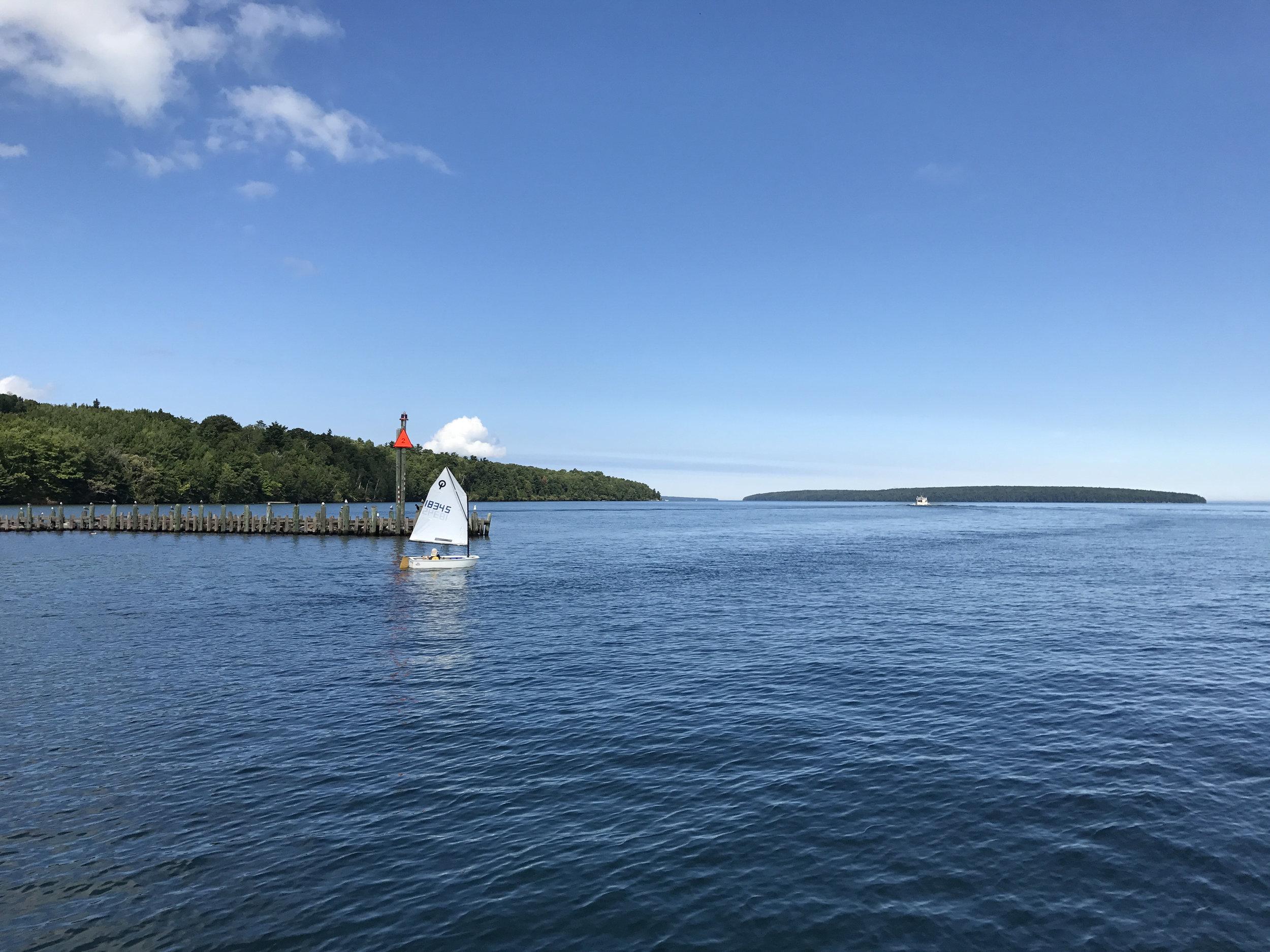 Leaving Bayfield for Madeline Island
