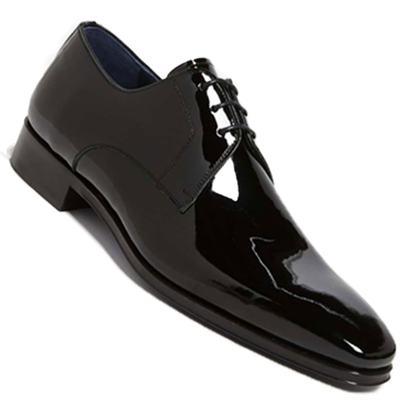 Patent Leather Tuxedo Shoe - Patent leather is the most classic and traditional black tie shoe with a bright shine for the picture perfect wedding photos.