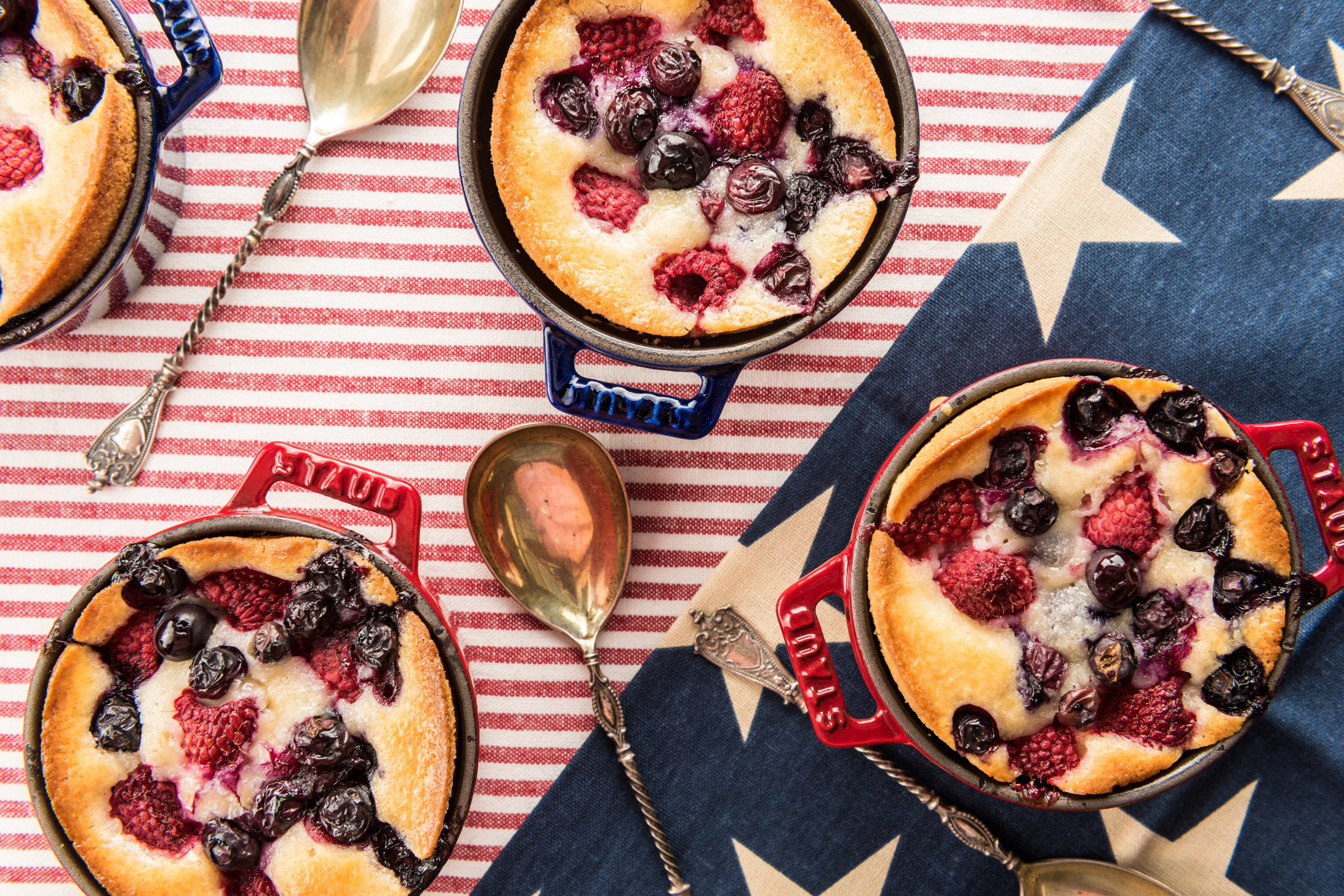 Little Blueberry, Raspberry & Almond Cakes