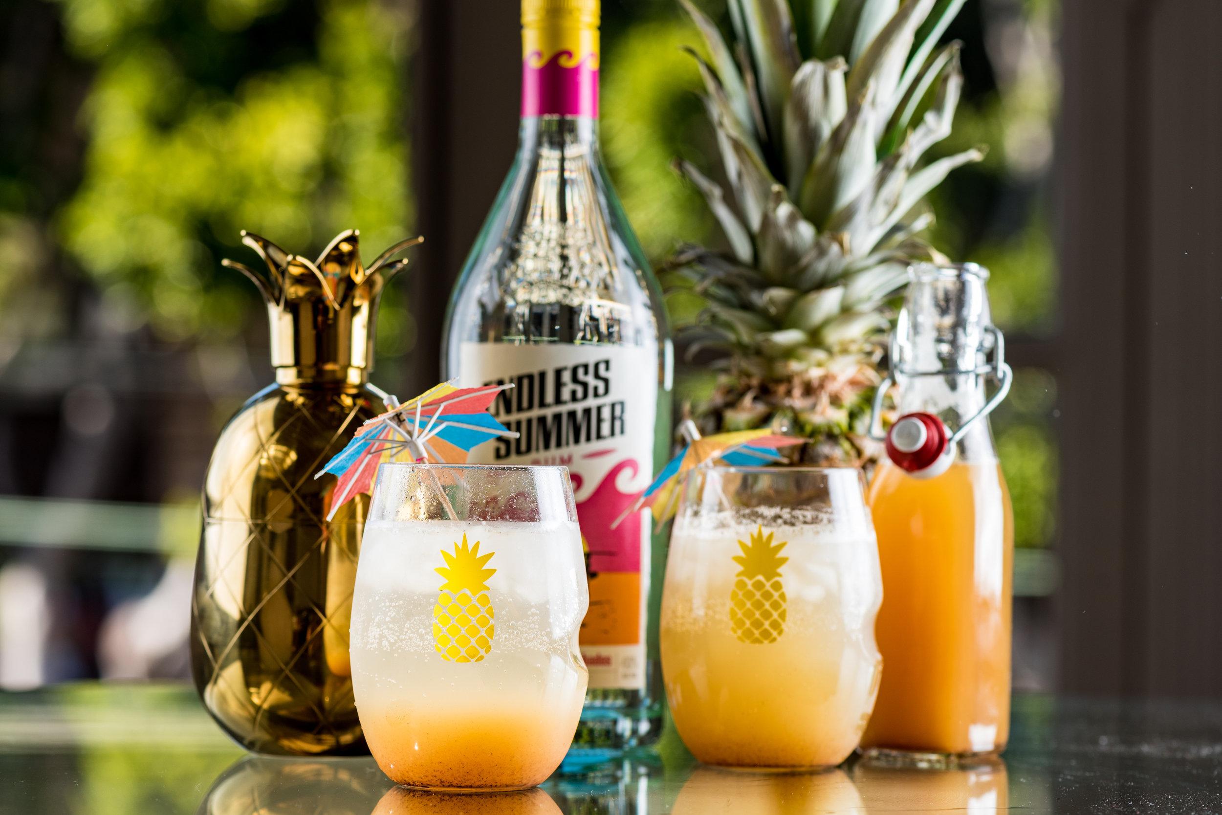 Pineapple Shrub & Caribbean Pineapple-Rum Spritz