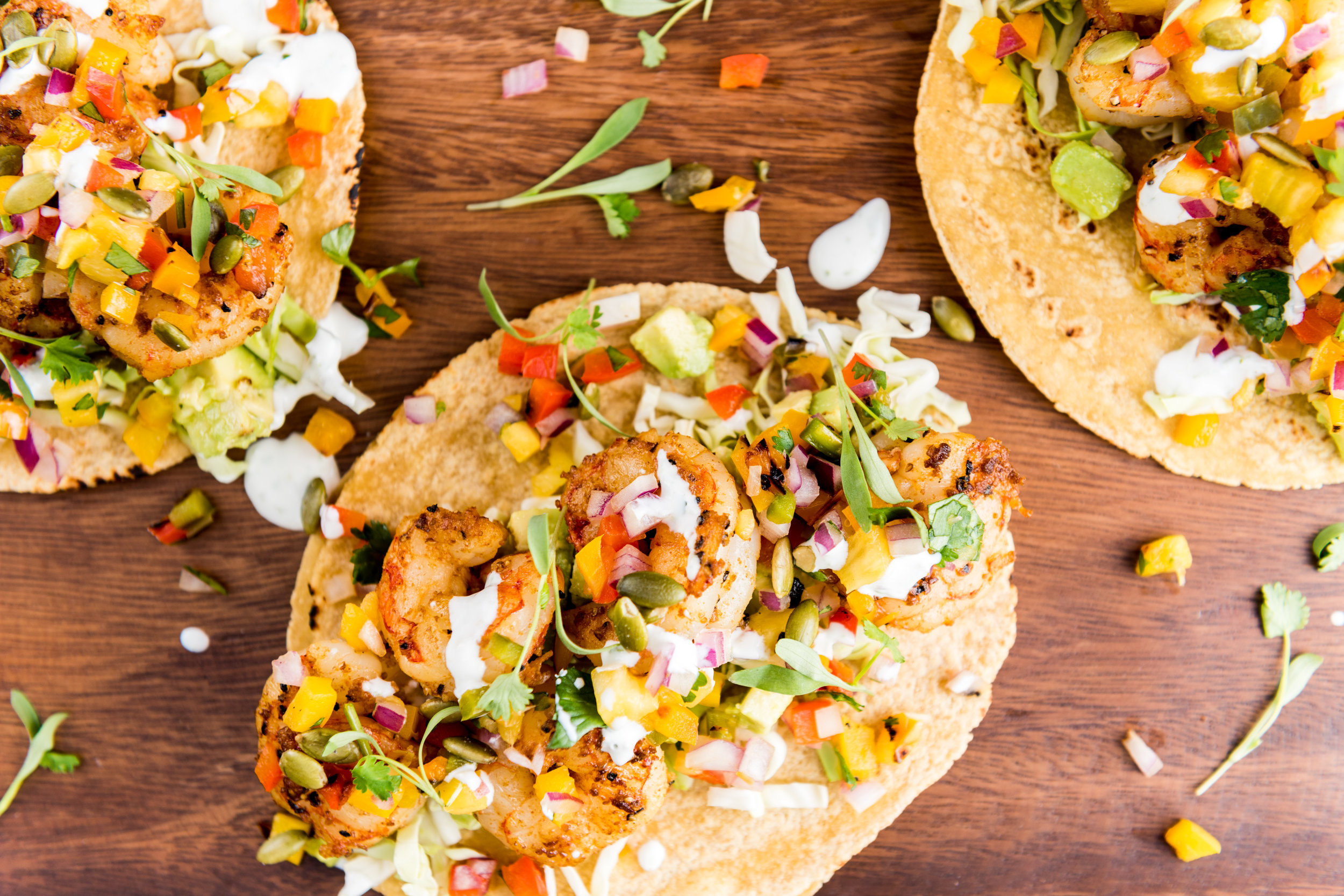 Smokey Shrimp Tacos with Grilled Pineapple Salsa