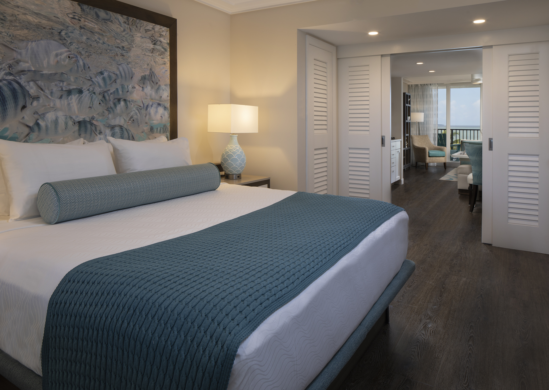 The Laureate Key West king bed guest room