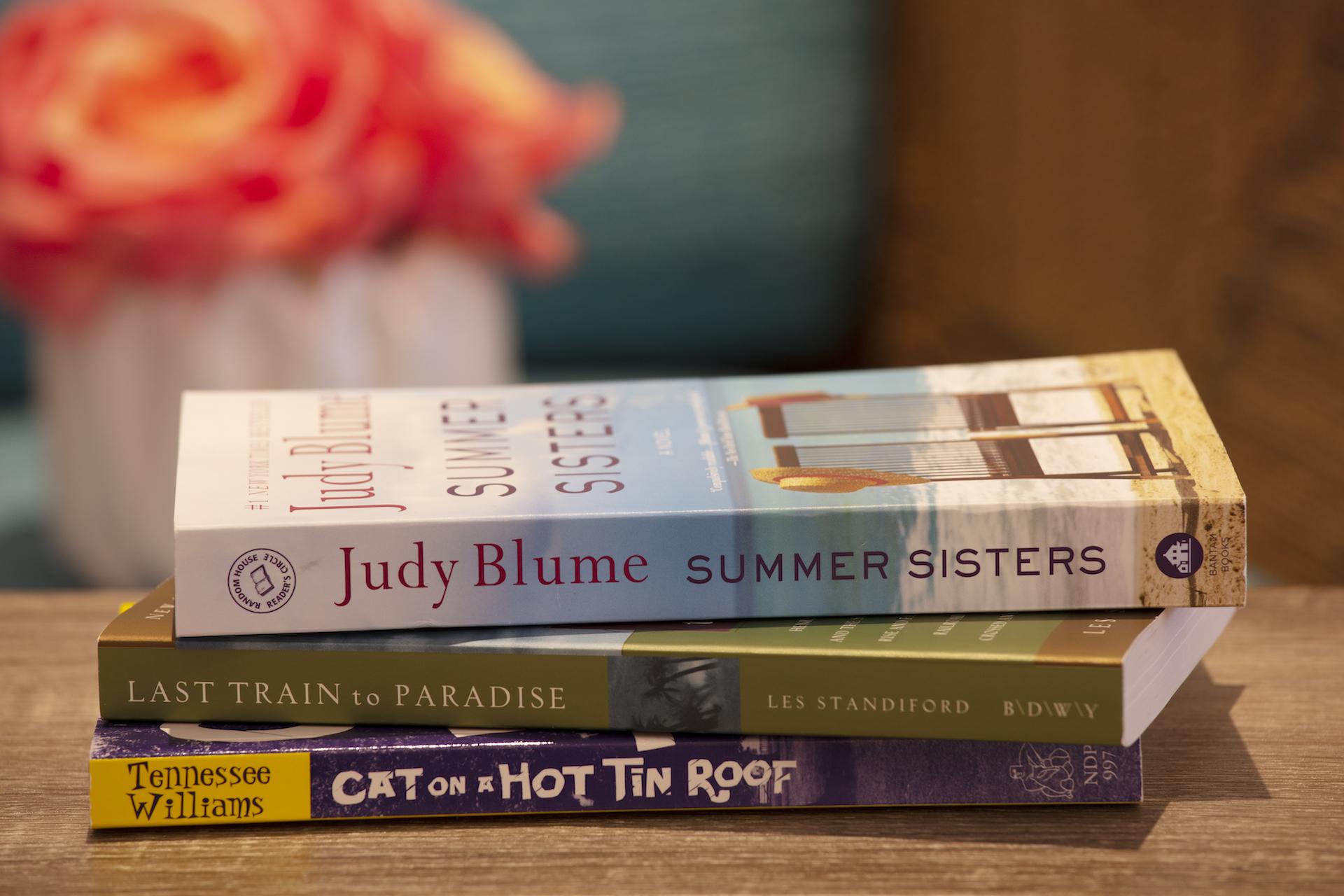 The Laureate Key West  image of three books