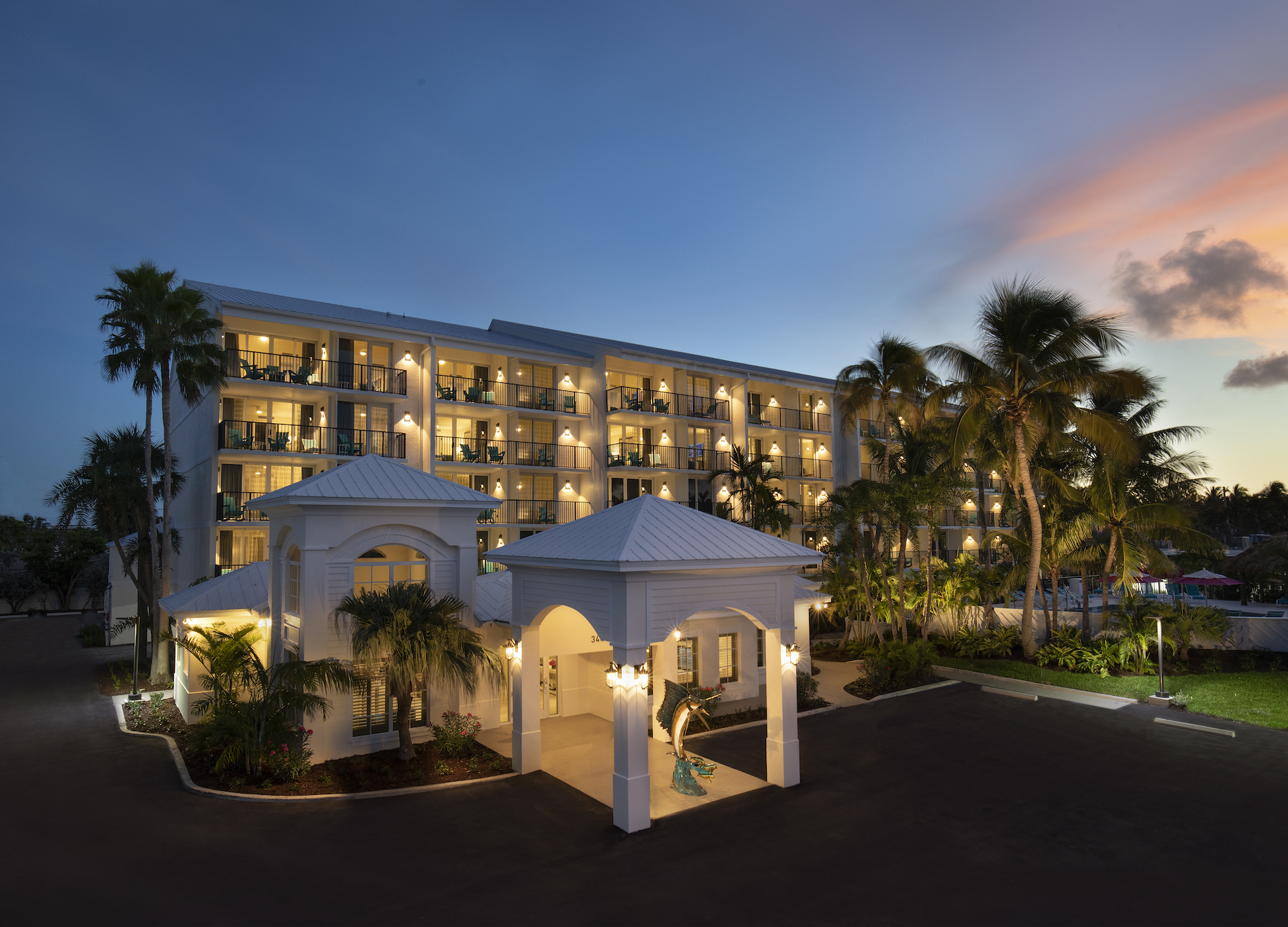The Laureate Key West exterior evening image