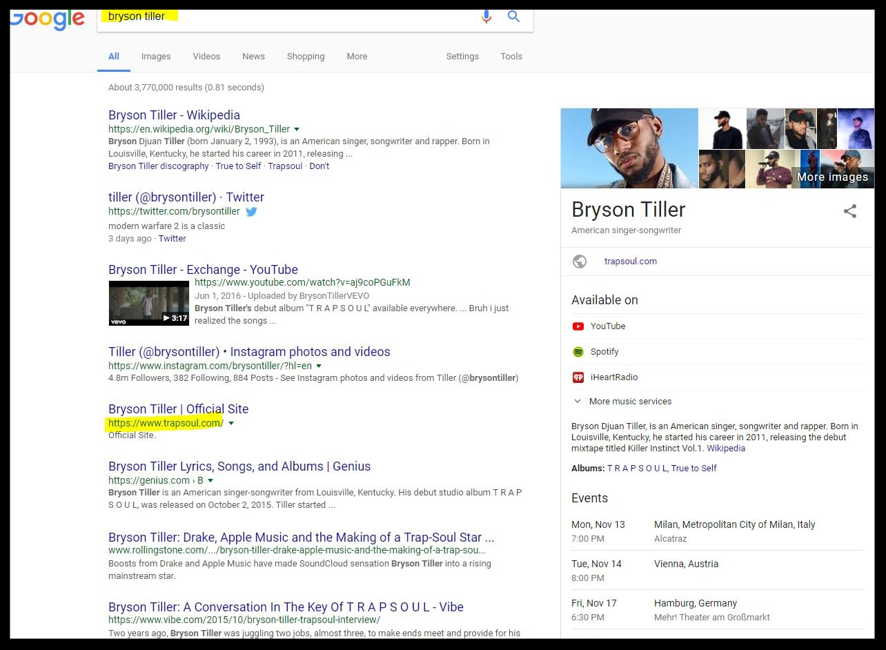 bryson tiller google search