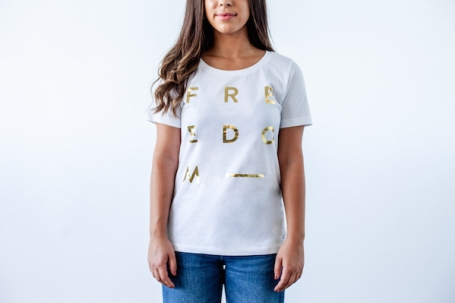6 Special Gifts That Give Back, gold foil tee