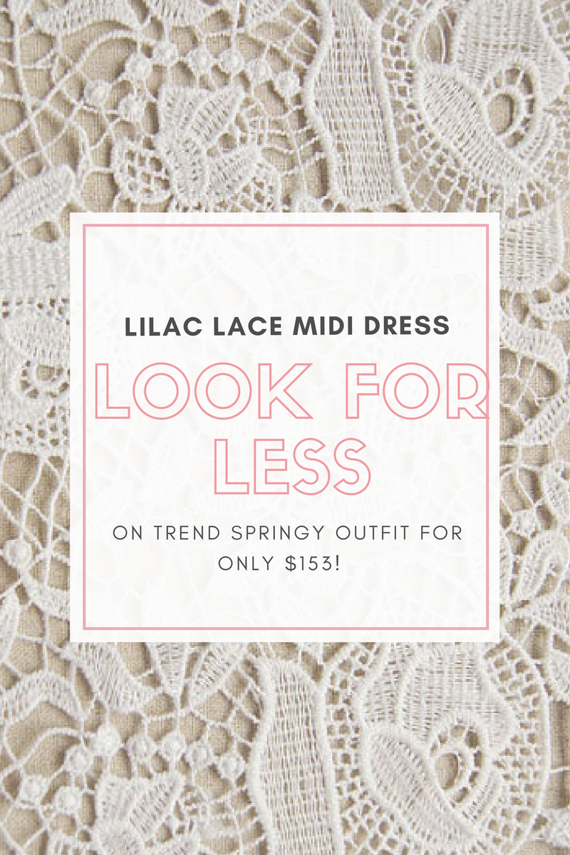 Spring Midi Lace Dress - Look For Less