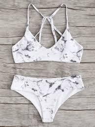 Marble print bikini  - $11.99