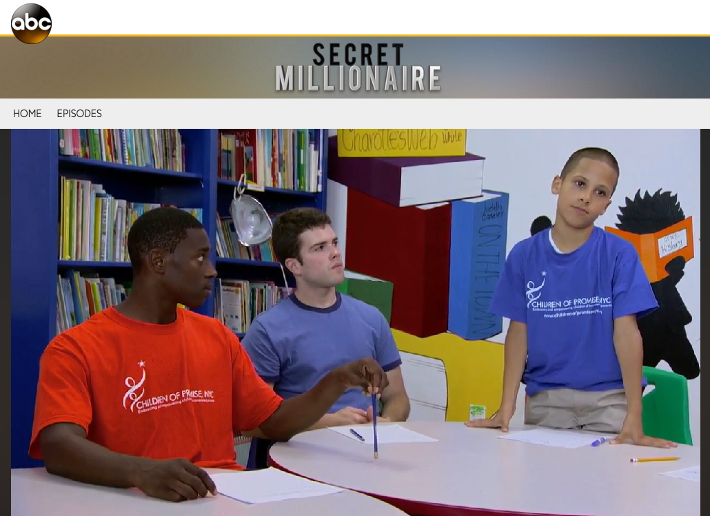 Entrepreneur Sean Belnick visits Children of Promise, NYC as part of his mission to discover organizations worthy of donations.