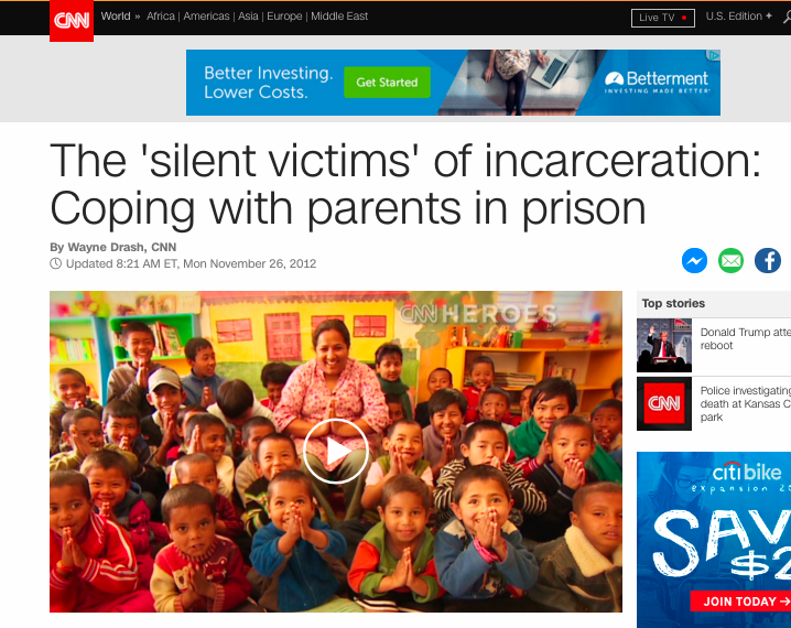 CNN visits CPNYC to discuss the very real effects of having a parent in prison.