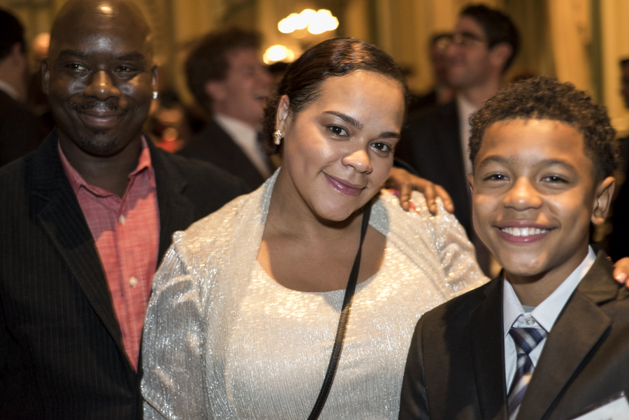 CPNYC's own Legasii Fox poses with family at the Urban Heroes Award Benefit.