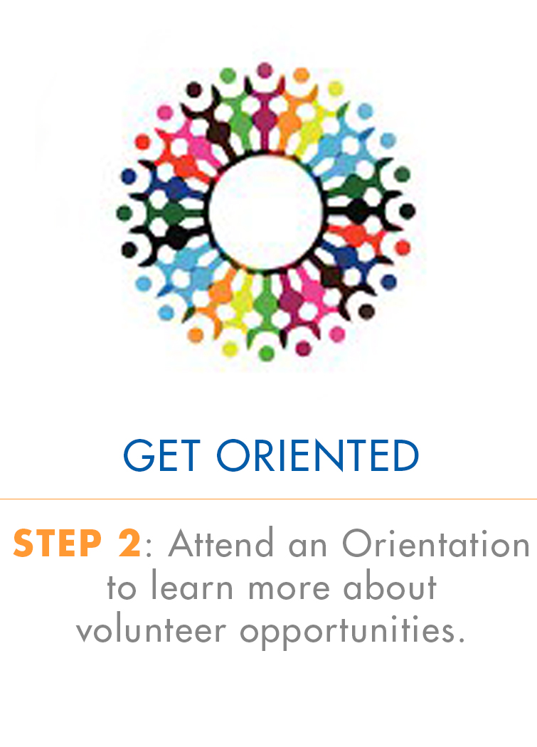 Step 2: Attend an Orientation to learn more about volunteer opportunities