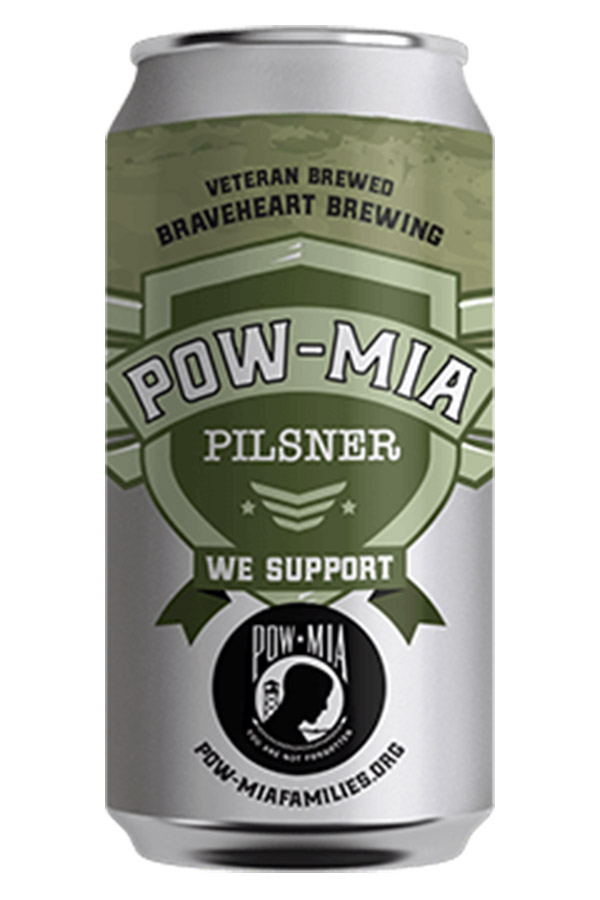 Pow-MiaPilsner - This Classic American Pilsner is brewed in honor of all of the POW-MIA personnel of the United States Armed Forces. Our pilsner is a crisp, dry, easy drinker that is made with all American malt and what else but classic American hops! Enjoy responsibly and never forget our POW-MIA heroes and their families.